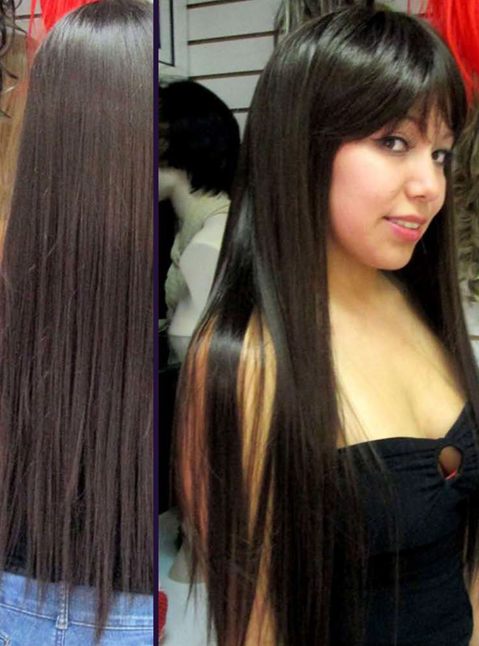 Cabello 100% natural 70cm de largo